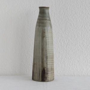 Rörstrand Atelje CARL HARRY STÅLHANE Large Beige Brown Glazed Stoneware Vase - Mollaris.com