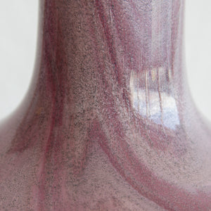 SIDSE WERNER Holmegaard TROLDGLAS Large Amethyst Marbled Crystal Glass Table Lamp - Mollaris.com
