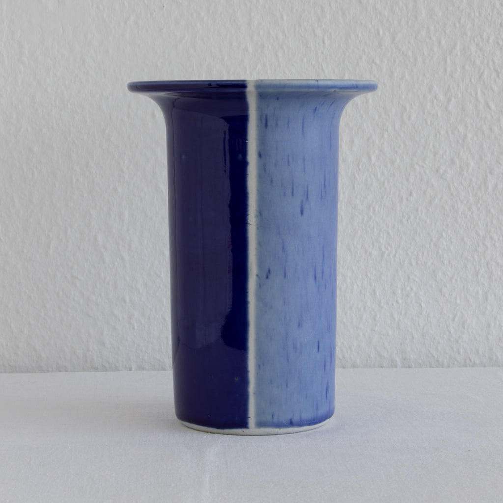 TUE POULSEN Studio Blue Glazed Large Stoneware Vase