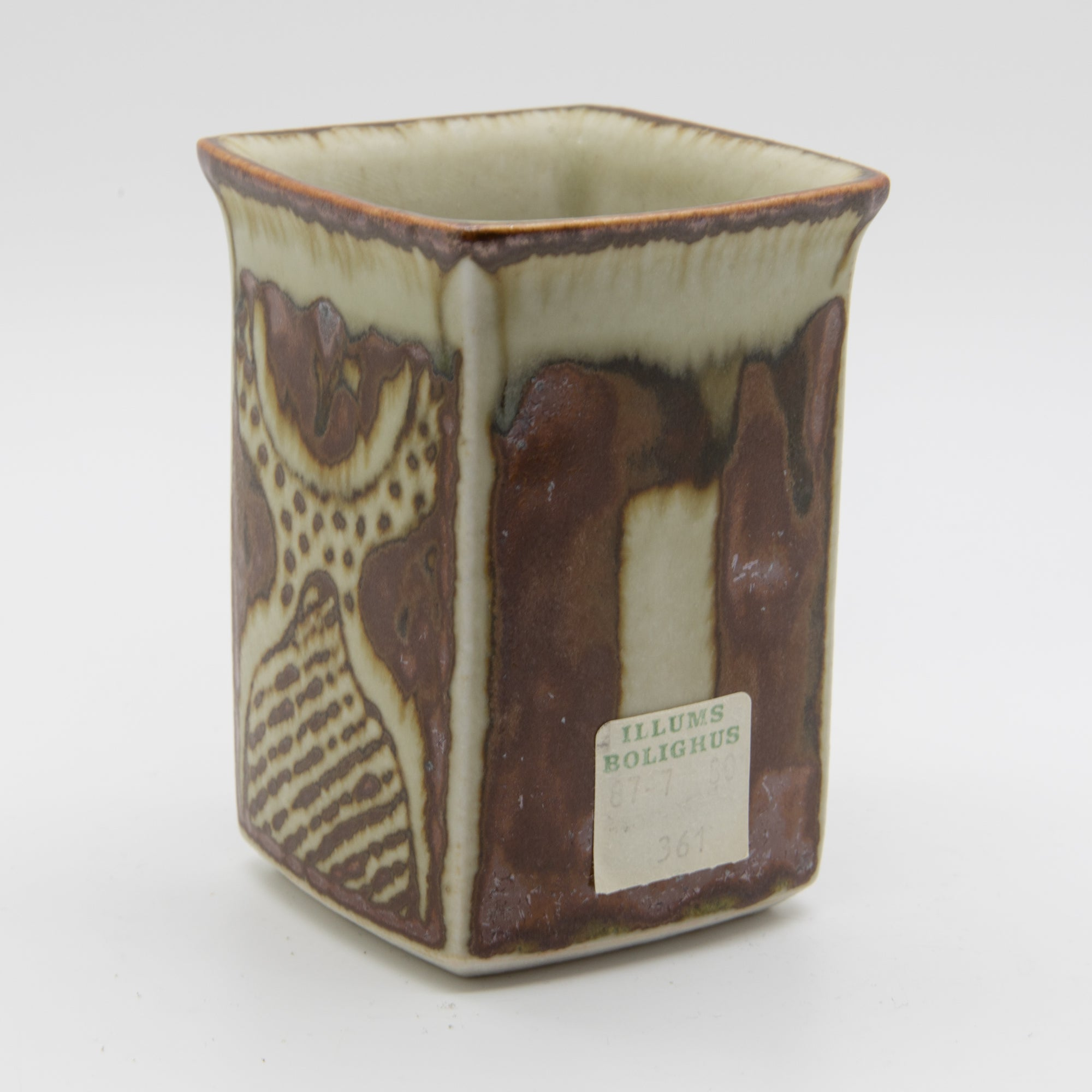URSULA PRINTZ MOGENSEN Studio Small Organic Decorated Stoneware Vase - Mollaris.com