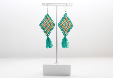 Hand Embroidered Earrings