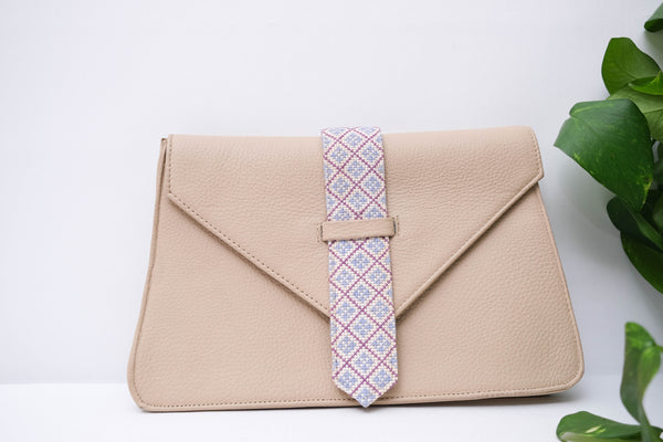Tie Leather Purse