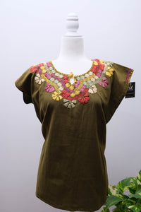 Manta Blouse with Embroidery-M