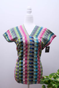Telar Blouse with Unraveling-S