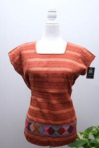 Telar Blouse with Unraveling-M