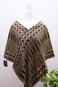 Telar Poncho/Mañanita with Unraveling-One size