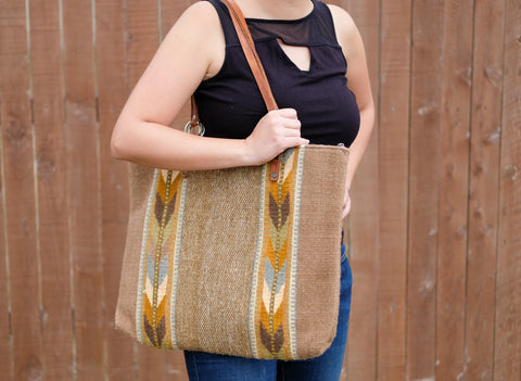 Wool Tote Bags with Design-Large