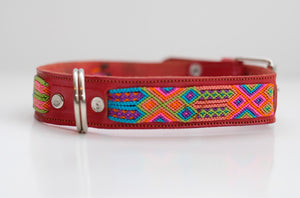 Mexican Colors Dog Collars- Large Thick