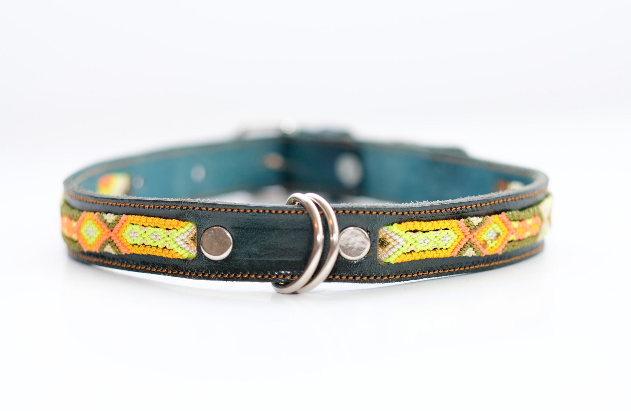 Mexican Colors Dog Collars- Large Thin