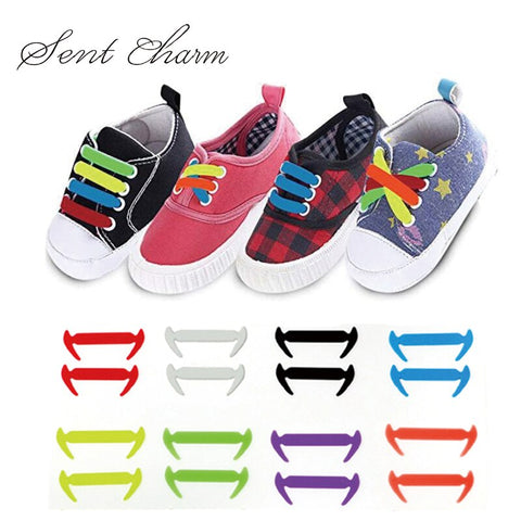 Colorful No Tie Shoelaces Toddler Kids With Multi Fashion Colors for Sneaker Board Shoes Casual Shoes Waterproof&Easy To Clean
