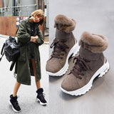 Koovan Women's Boots 2019 New Winter Snow Short Boots For Girls Female Genuine Leather Short Matte Plus Velvet Cotton Shoes 40
