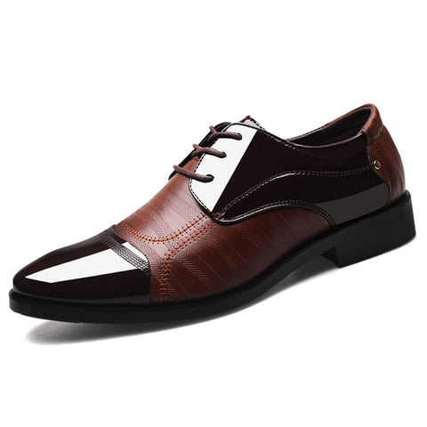 Pointed Men Wedding Latin Prom Large Size Leather Shoes Ballroom Dance Sports Business