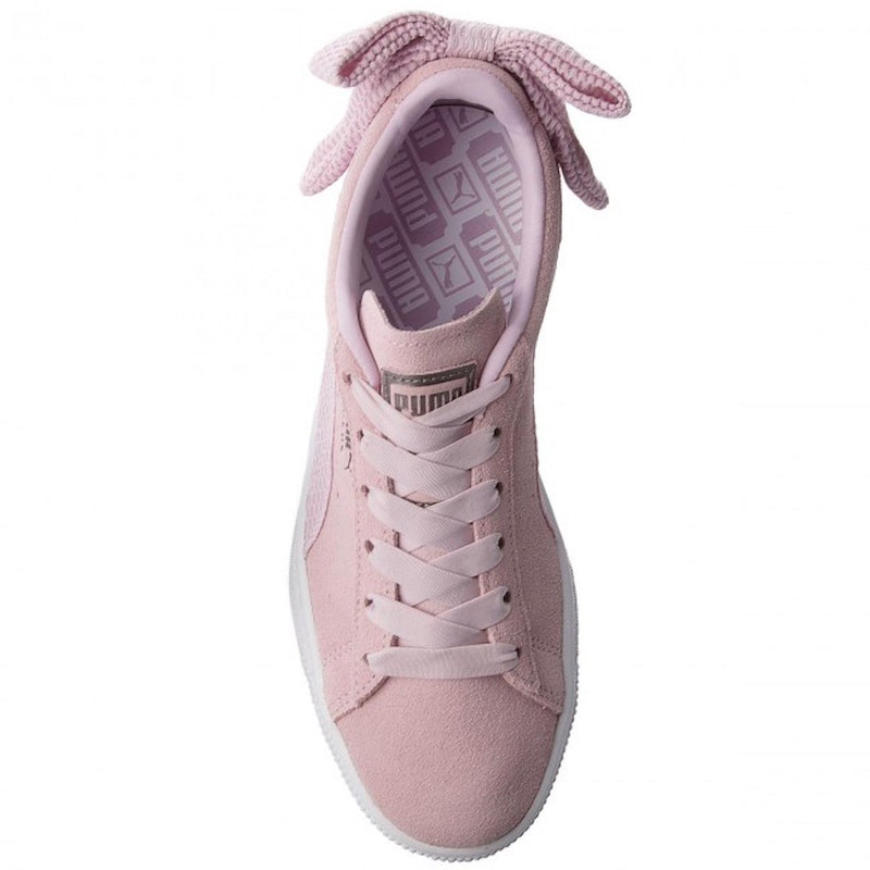 SUEDE BOW UPRISING - PINK/WHITE