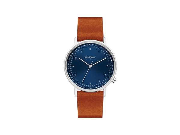 LEWIS WATCH - BLUE COGNAC