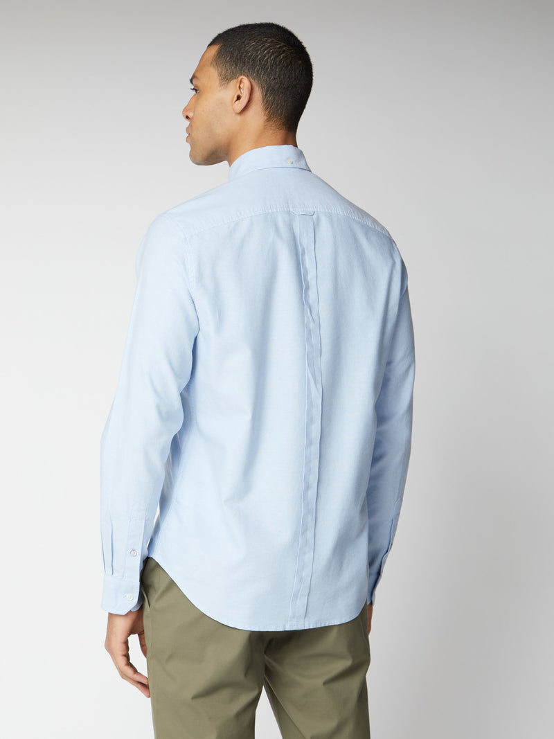 SIGNATURE BUTTON DOWN OXFORD SHIRT - SKY BLUE