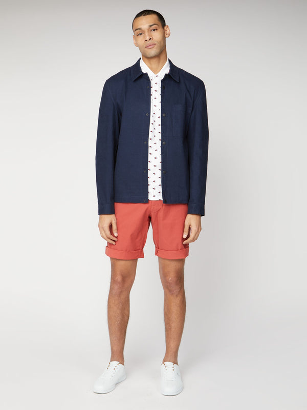 COTTON CHINO SHORTS - TERACOTTA