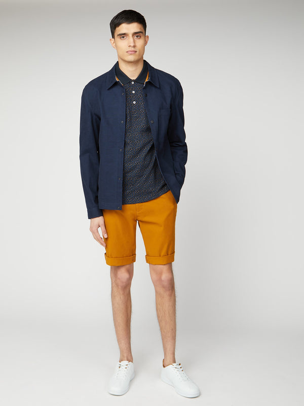 COTTON CHINO SHORTS - GOLD