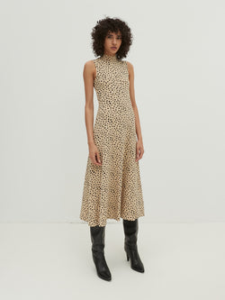 TALIA DRESS - BRUSHSTROKE