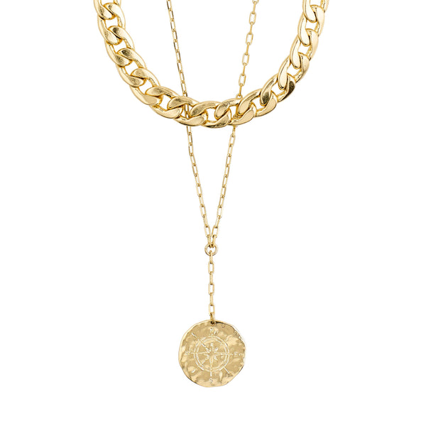 COMPASS NECKLACE - GOLD PLATED
