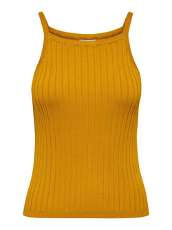 LUNA S/L KNIT TOP - GOLDEN YELLOW