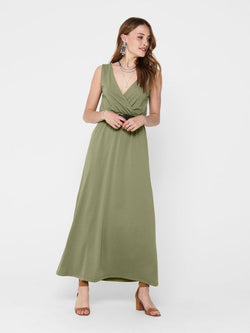 AUSTIN LIFE S/L MAXI WRAP DRESS - MERMAID