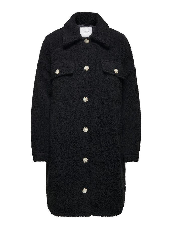 STELLA TEDDY SHIRT JACKET - BLACK