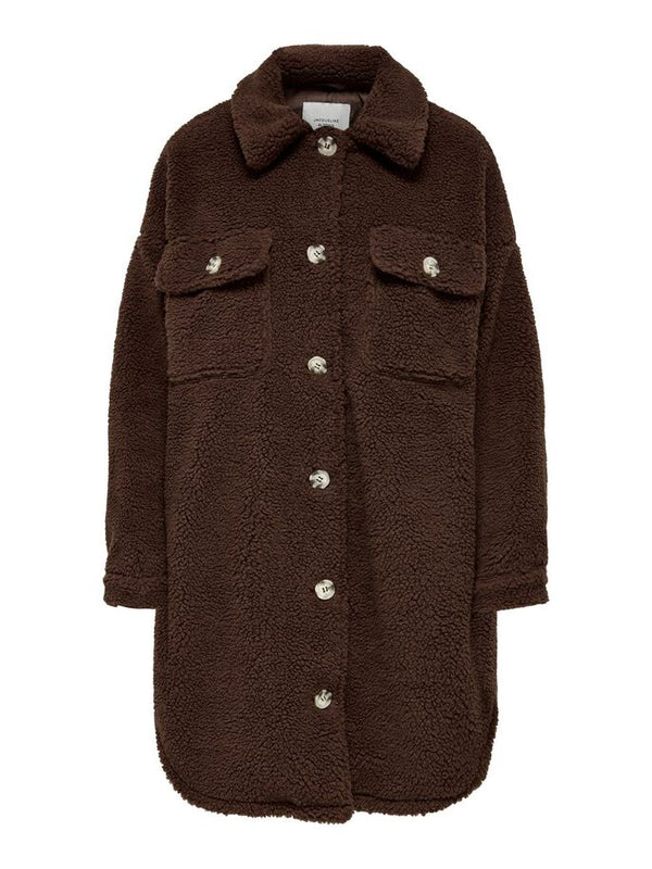 STELLA TEDDY SHIRT JACKET - PINECONE
