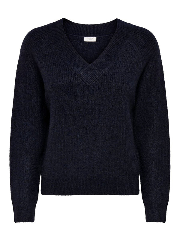SANDY L/S V-NECK KNIT - SKY CAPTAIN