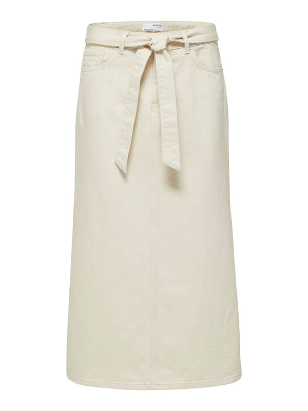 ALMA HW DENIM SKIRT - CREME