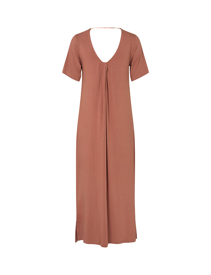 BERTTI GOGREEN LUXE BASIC DRESS - CEDAR WOOD