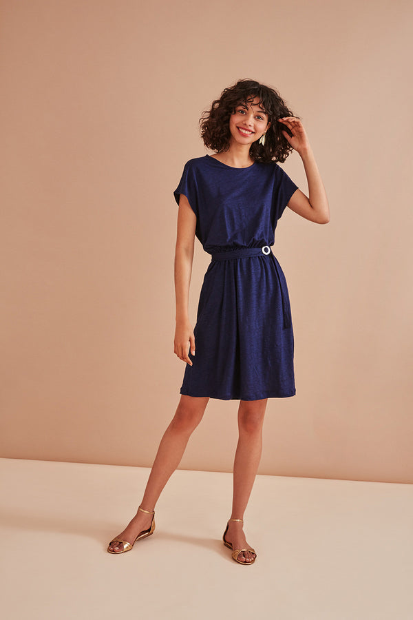 HALMA DRESS - INDIGO