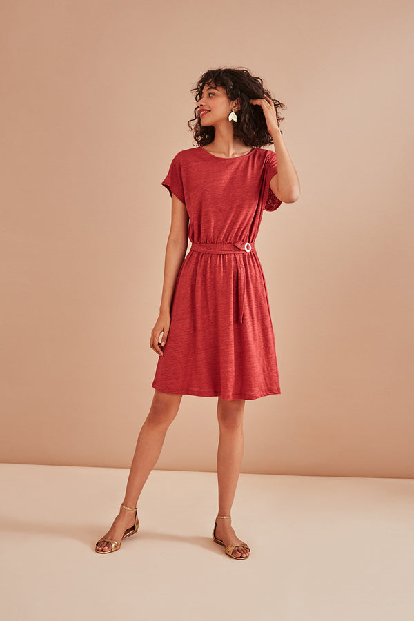 HALMA DRESS - RED