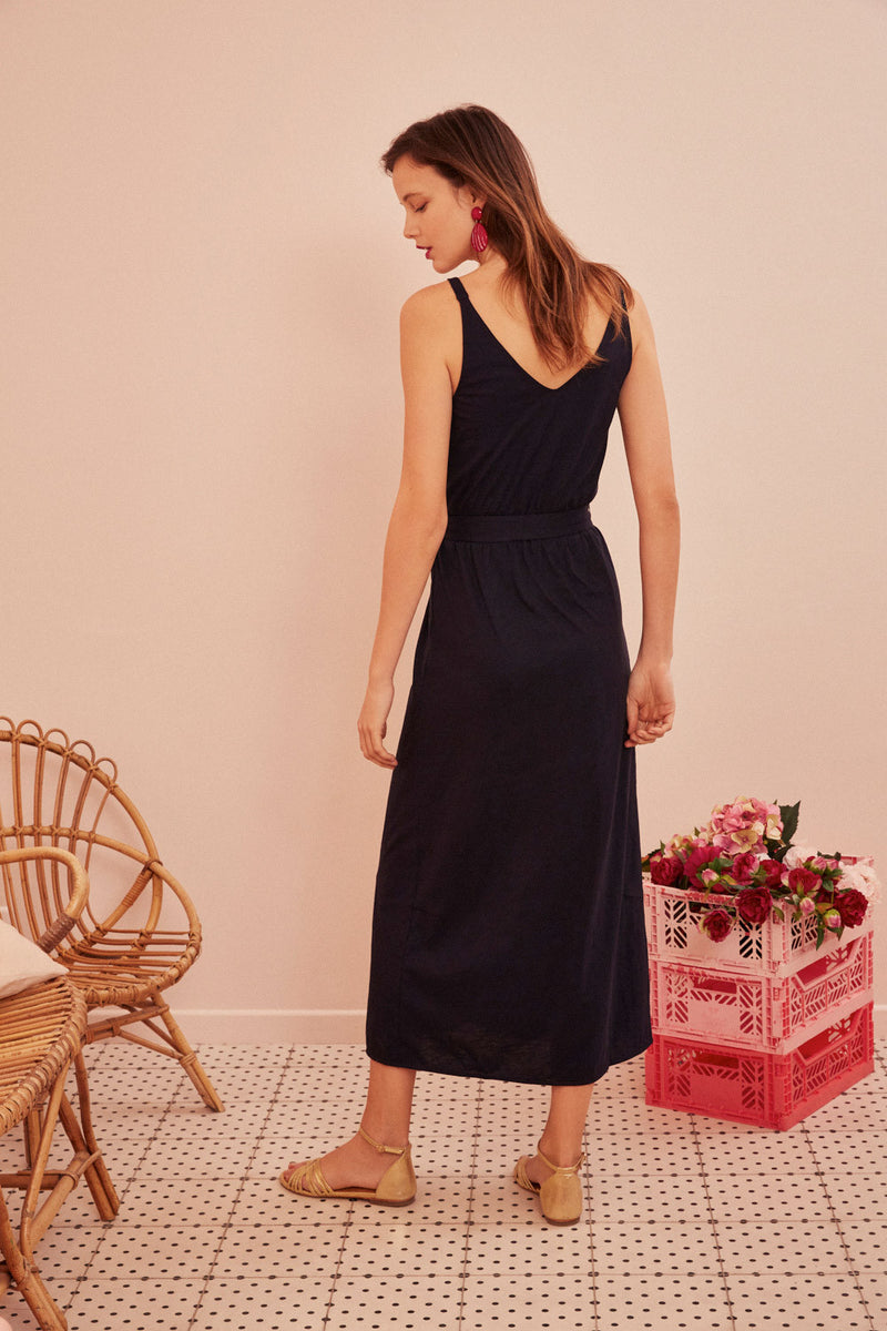 FELMA DRESS - BLEUET