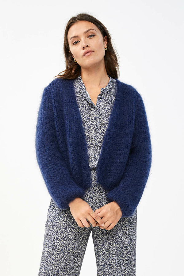 AVA CARDIGAN - OPTION BLUE