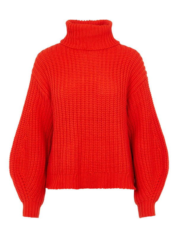ORANGINA KNIT ROLL NECK - ORANGE