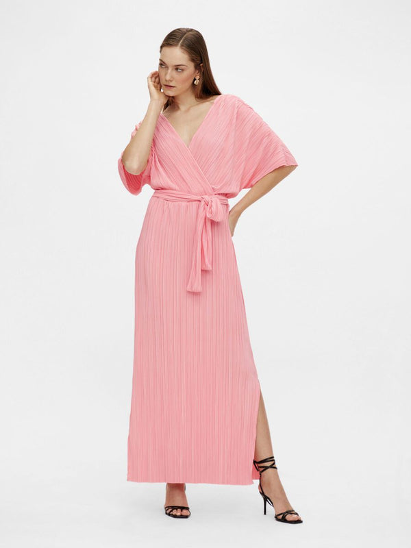 OLINDA SS MAXI DRESS - SALMON ROSE