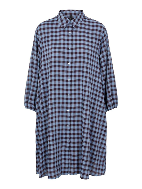 BLUMA SHIRT DRESS - COUNTRY BLUE CHECKS