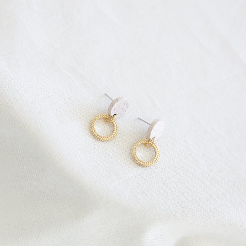 HOPE 05 EARRING - LIGHT  PINK