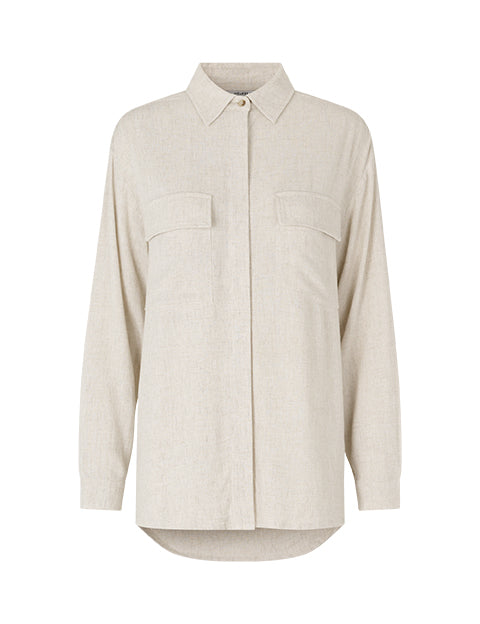 GWENDA AYLA SHIRT - NATURAL BEIGE