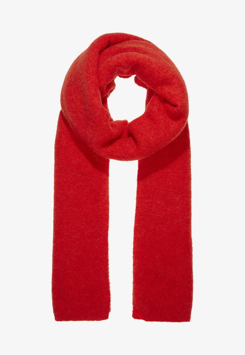 NILA MOHAIR SCARF - RED