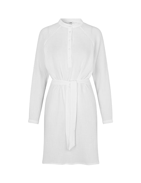 RENETTA DELMORE DRESS - WHITE