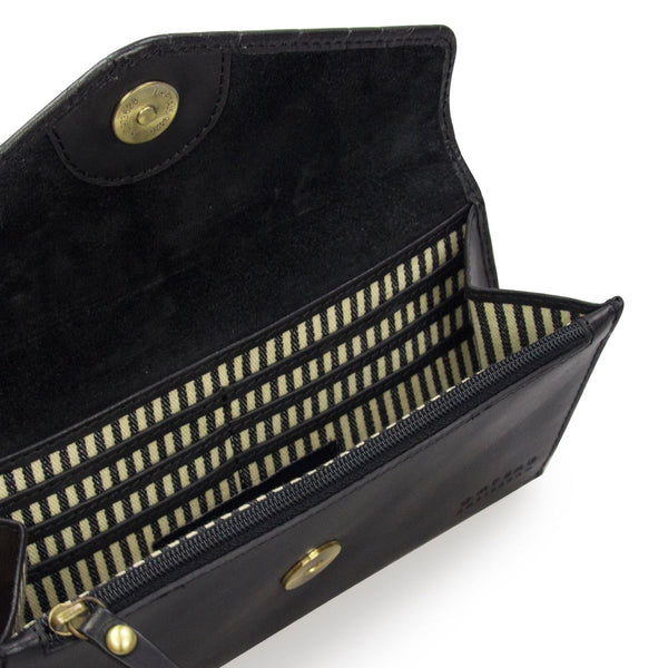 ENVELOPE PIXIE - BLACK CROCO