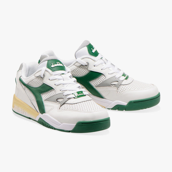 REBOUND ACE SNEAKER - WHITE/GREEN