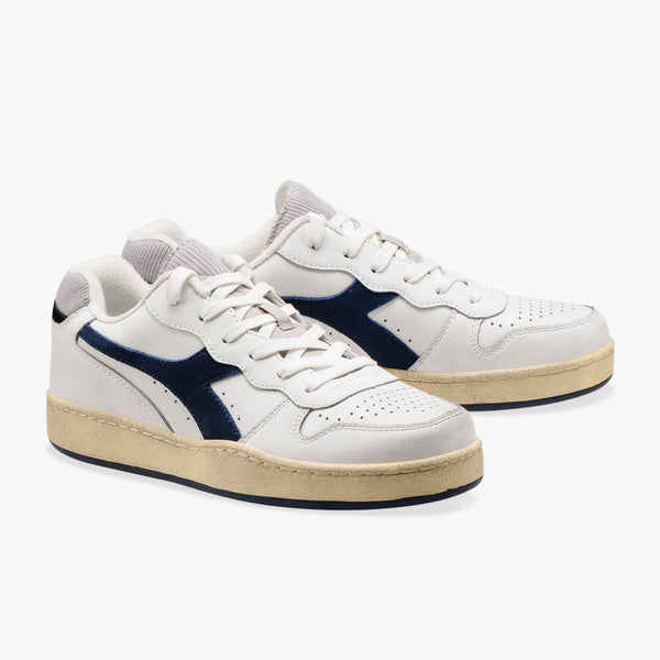 MI BASKET LOW USED - WHITE / BLUE DARK DENIM