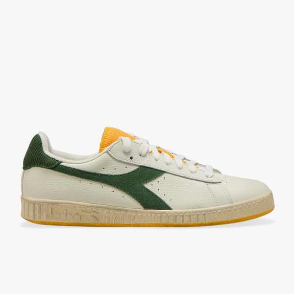 GAME L LOW ICONA SNEAKER MEN - WHITE / GREEN GOLDFINCH