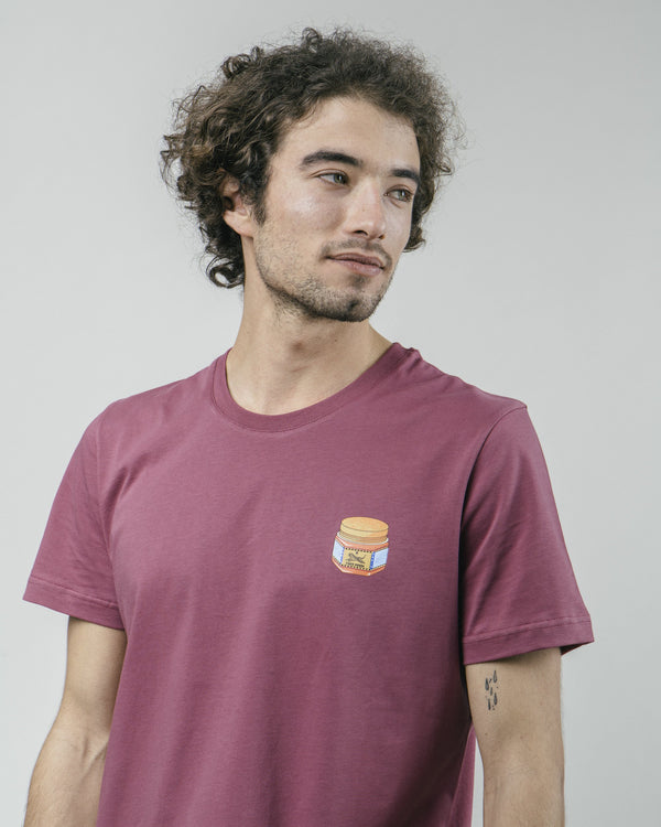TIGER BRAVA TEE - BORDEAUX