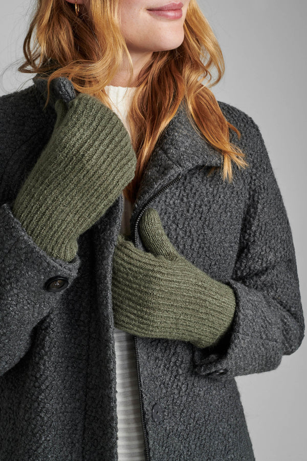 NUMARCELLINA MITTENS - GREEN