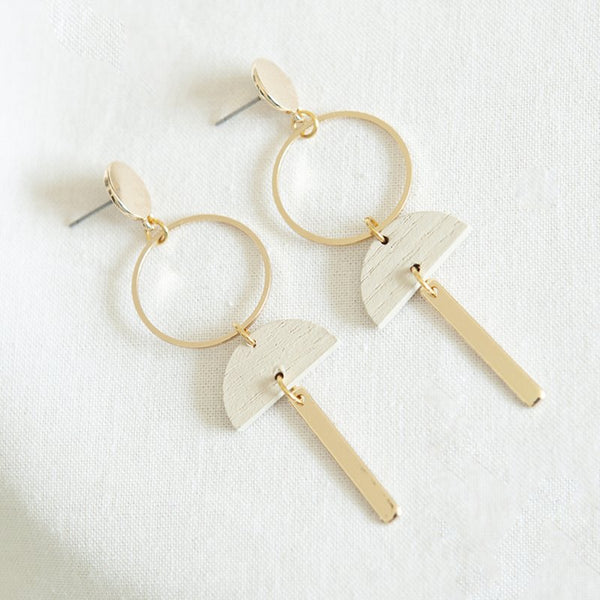 WHITE 13 EARRINGS - WHITE