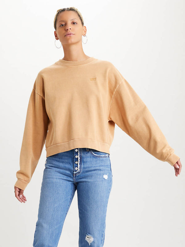 DIANA CREW NECK SWEATER - ICED COFFEE/BROWN