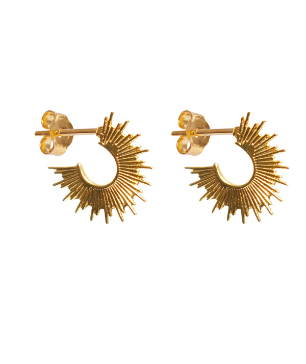 THROWING STAR EARRING - GOLD PLATED